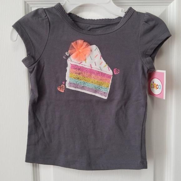 Circo Sparkle Birthday Cake Tshirt NWT